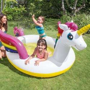"107"" Intex Kids Inflatable Mystic Unicorn Paddling Spray Pool £16.99 delivered @ eBay sold by ukbuyzone"