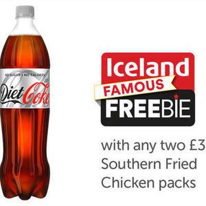 Iceland Famous Freebie Sneak Peak Free Bottle Of Coke With Any Two £3 Southern Fried Chicken Packs