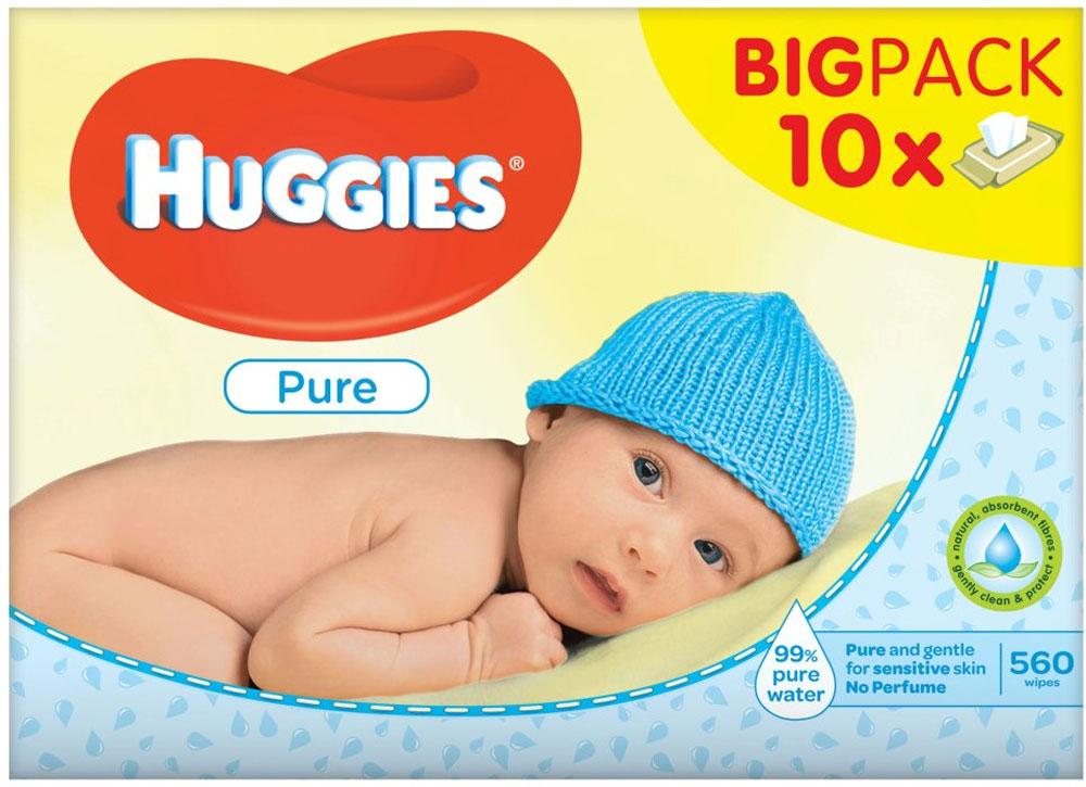 Huggies Pure 10 x 56 Pack Of Wipes @ Farm Foods £4.99
