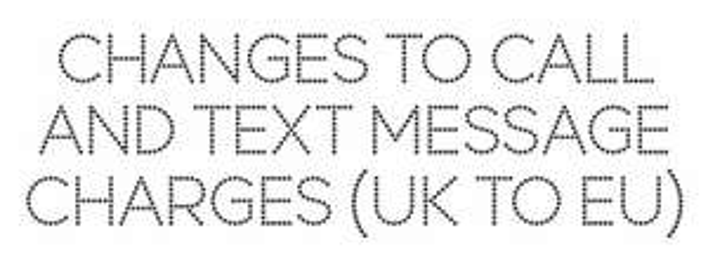U.K. to EU calls now capped 19p/6p texts