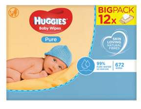 Huggies pure baby wipes £5.60 @ Asda Instore