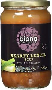 Biona Organic Hearty Lentil Soup with Leek and Celeriac 680g (Pack of 6) @ Amazon £3.39 Prime £7.88 Non Prime