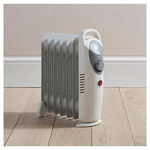 800 watt  electric oil filled 6 fin radiator reduced to £6.75 instore in Tesco Maryhill