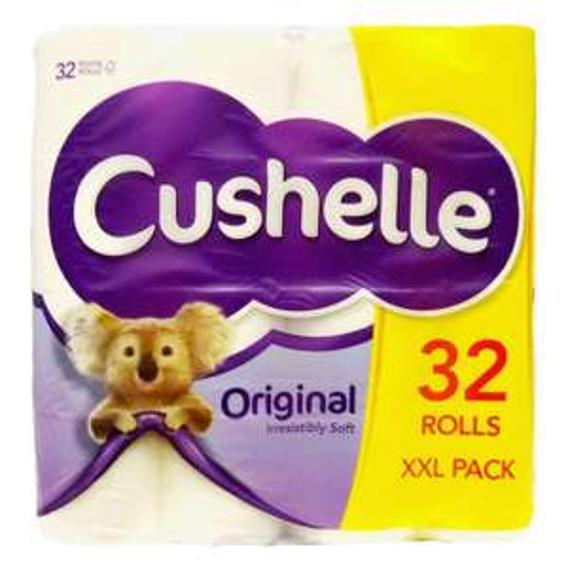 Pack of 32 Cushelle toilet rolls for £10.50 instore in Tesco Maryhill