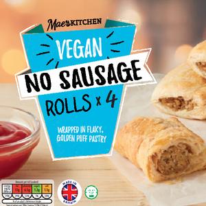 Vegan No Sausage Rolls x 4 £1.19 @ Aldi + Vegan No Meat Burgers / No Chicken Burgers /  Superfood Burgers £1.99 per pack
