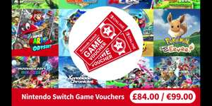 Nintendo Switch Game Vouchers for Nintendo Switch Online Members - TWO games (digital from Switch eShop) for £84!