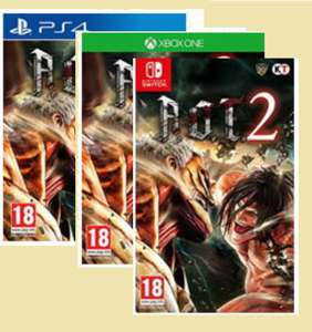 Attack on Titan 2 (PS4)/Xbox one for £11.85 (Switch for £19.85) Delivered @ Base