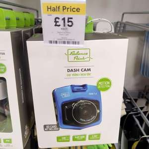 "Balance Point HD dash cam 720p 2.4"" screen half price £15, also 1080p £25 down from £50 in store at Tesco"