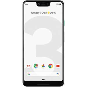 "New Google Pixel 3 XL Clearly White 6.3"" 64GB 4G Unlocked & SIM Free £599 @ Laptops Direct"