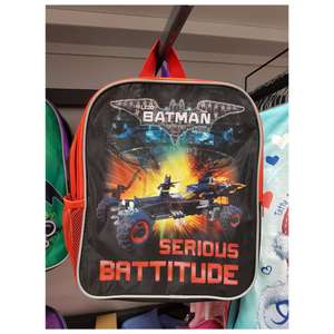 Batman Kids Backpack (various designs) £1.99 Home Bargains