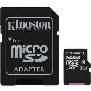 Kingston 128GB Canvas Select micro SDXC TF Memory Card SD Adapter - 80MB/s for £12.95 Delivered @ Mymemory (Ebay)