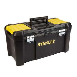 """Stanley 19"""" Toolbox with removable  tote tray & folding handle £10.00 @ B&Q free C&C"""