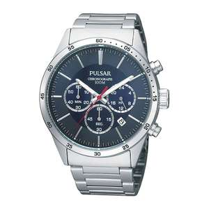Pulsar Mens Chronograph Stopwatch Stainless Steel 100M Quartz Watch with Date PT3003X1 £24.99 @ 7dayShop