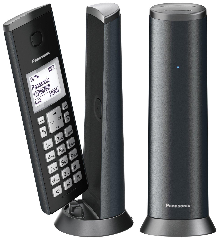 Panasonic KX-TGK222EM Cordless Telephone Graphite Grey Twin- £39.99 at Argos