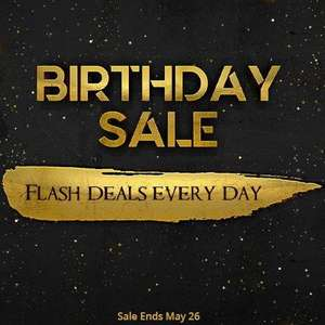 Birthday Sale - Up to 75% off - Flash Deals everyday until May 26th 2019 @ Green Man Gaming