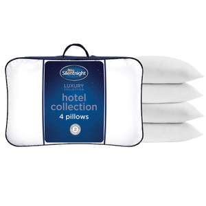Silentnight Luxury Collection Hotel Pillow Pack of 4 NOW £21.99 delivered at Amazon
