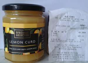 Aldi's 'Specially Selected' Lemon Curd 320g 89p in-store (Bidston, Wirral)