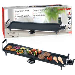 Dunlop XXL electric Teppanyaki Table Top BBQ Grill 87cm long with 2 year guarantee £28.99 delivered @ eBay / daily-deals-ltd