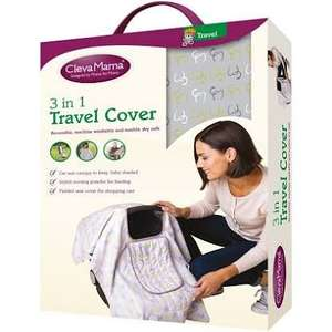 Clevamama 3 in 1 Travel Cover - Capri @ Argos. Was £19.99, Now £6.99. Free C&C. Also available in Rose and Lime with Free Home Delivery