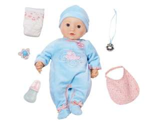 Baby Annabell Alexander 43cm Doll (realistic sounds and movements ) £31.99 Delivered at Bargainmax