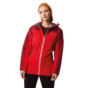 NAB IT! Regatta Women's Whitlow Stretch Waterproof and Breathable Wind Resistant Hooded Jacket @ Amazon