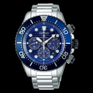 """Seiko Prospex """"Save The Ocean"""" Solar 200M Divers Watch SSC675P1, 43.5mm, Stainless Steel Bracelet, £269 @ Simpkins Jewellers"""