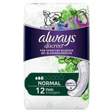 Free samples of Always pads and liners from supersavvyme.co.uk