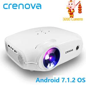 CRENOVA Newest LED Projector For Full HD 4K*2K Video Projector Android 7.1.2 OS Home Cinema Movie Beamer Proyector - £68.83 @ Ali Express