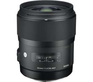 SIGMA 35 mm f/1.4 DG HSM A Standard Prime Lens - for Canon (1% TCB) - £499 @ Currys PC World