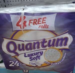 24 Rolls (20 Pack + 4 Free) Quantum Luxury Soft 3-Ply Toilet Roll, £5 In Store @ Poundland