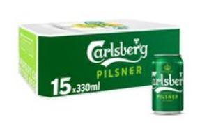 Carlsberg Pilsner 15 X 330ml cans £9 @ Morrisons