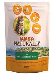 Iams Naturals New Zealand Lamb and Rice Adult Cat Food, 270 g - Pack of 8 - £1.99 but minimum 2 orders @ Amazon Prime / £8.47 Non Prime