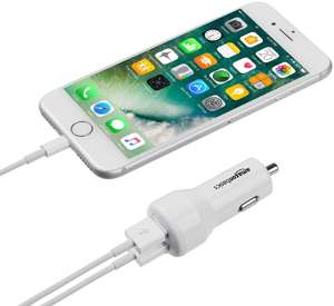 AmazonBasics 4.8 Amp/24W Dual USB Car Charger for Apple & Android Devices RRP £6.13 NOW £3.46 add-on item at Amazon