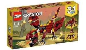LEGO Creator Mythical Creatures Dragon Toy Set - 31073 - £12.99 or 2 for £15 on selected toys @ Argos