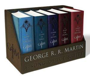 George R. R. Martin's a Game of Thrones Leather Cloth Boxed Book Set - Like New at Amazon sold by BookInMail £32.29