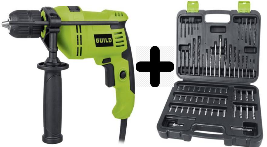 Guild 13mm Keyless Corded Hammer Drill - 600W + Guild 70 Piece Titanium Drill Bit Set + 2 Year Warranty - £30 + Free C&C @ Argos