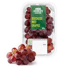 ASDA Grower's Selection Seedless Red / Black / Green  Grapes 400g £1 @ Asda
