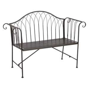 Wilko Garden Furniture Offers - Country Metal Garden Bench was £79 Del now £54 / Wooden Bench now £44 Del / Rattan Lounge 4 Piece Set £162