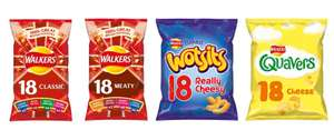 18 packs of Walkers Classic Variety or Meaty Variety / Wotsits / Quavers now £2 @ Morrisons
