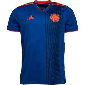 Adidas Colombia National Team Away Shirt Bold Blue/Solar Red £8.99 + £4.99 delivery at MandM Direct