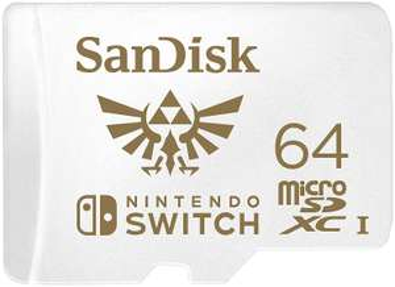 SanDisk SDSQXAT-064G-GNCZN microSDXC UHS-I Card for Nintendo Switch 64 GB - £14.99 (Prime) / £19.48 (non Prime) @ Amazon
