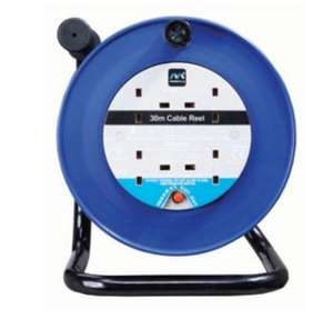 Masterplug 4 Socket Thermal Cut-Out Open Cable Reel - Blue 30m 10A NOW £20 C&C at Wickes