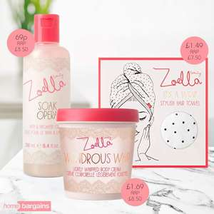 Zoella Bath products from £0.69 (Bath & shower cream) @ Home Bargains
