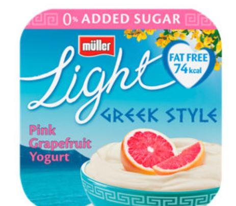 4x 120g Muller Light Greek Style Yogurt Now £1 @ Asda