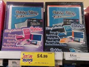 Pukka Filing Collection: Blue or Pink £4.99 @ Home Bargains In-store or online (but delivery charges apply)