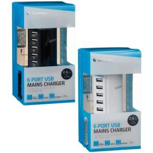 Goodmans 6 Port USB Mains Charger £10 @ B&M In-store