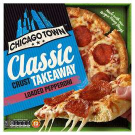 Chicago Town Classic Crust Takeaway Loaded Pepperoni 335g  or Loaded Cheese 340g   £1.50 @ Iceland
