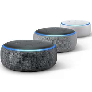 2x Amazon Echo Dot 3rd Gen 2018 (Sandstone / Charcoal / Heather Grey) for £49.98 delivered @ Currys