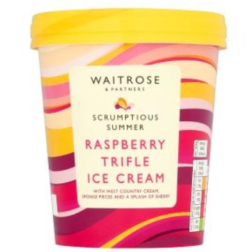 Waitrose Raspberry Trifle Ice Cream 500ml - £2 @ Waitrose