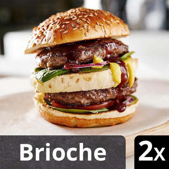 2 pack triple burger brioche buns 69p - make your own big mac style burgers @ Iceland
